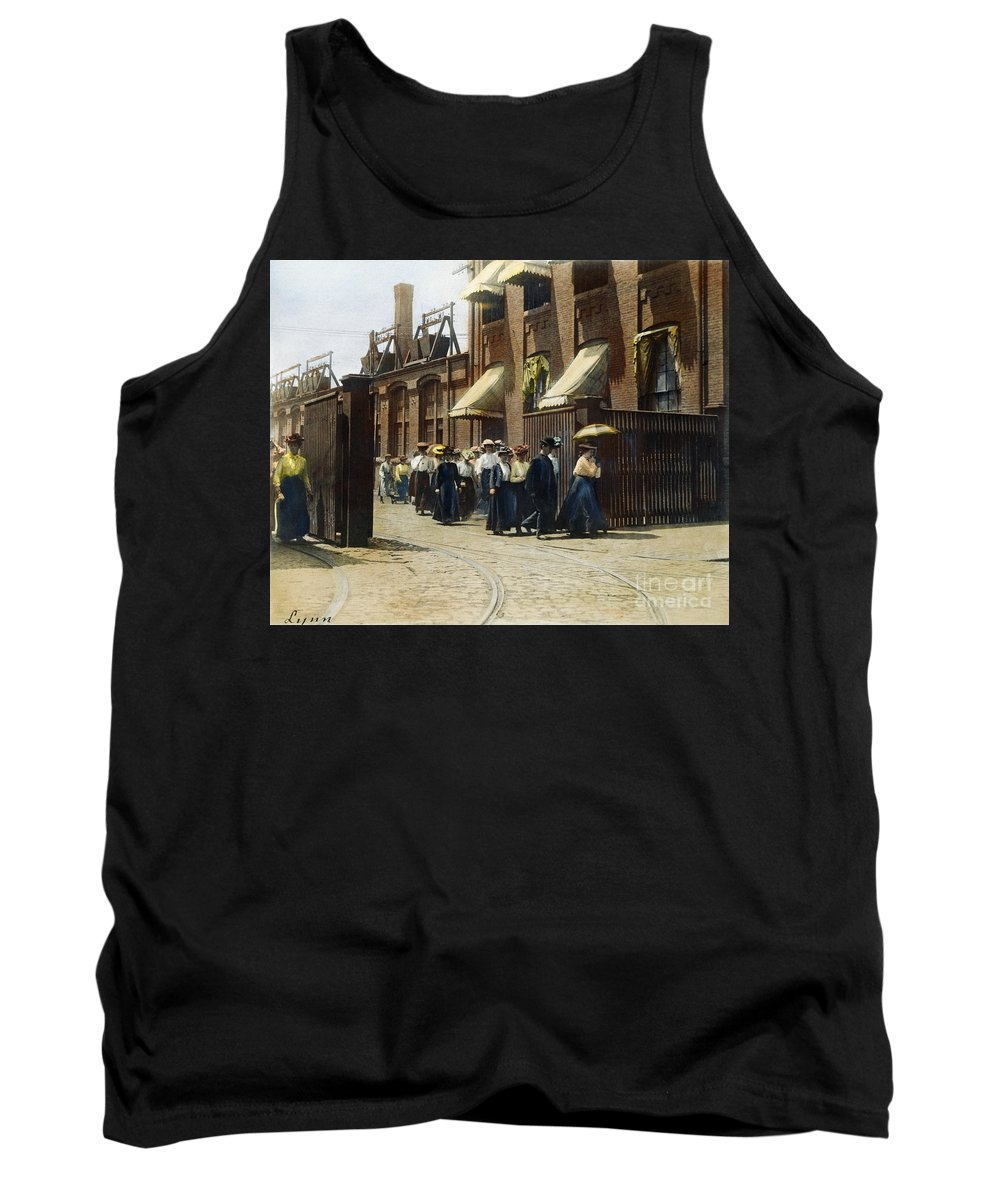 1895 Tank Top featuring the photograph Women Leaving Work, 1895 by Granger