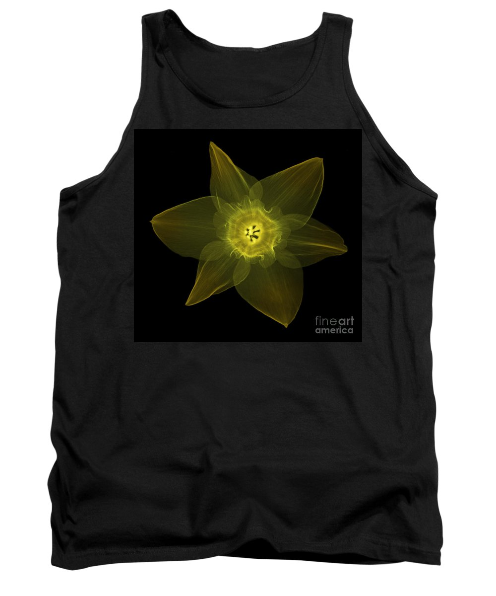 X-ray Tank Top featuring the photograph X-ray Of Daffodil Flower by Ted Kinsman