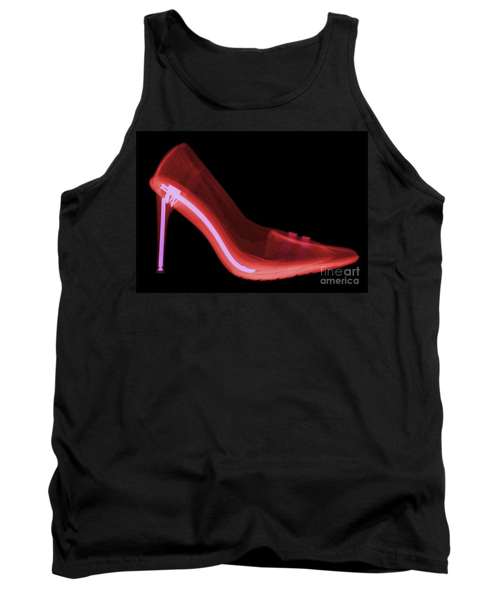 Xray Tank Top featuring the photograph X-ray Of High Heel Shoes by Ted Kinsman