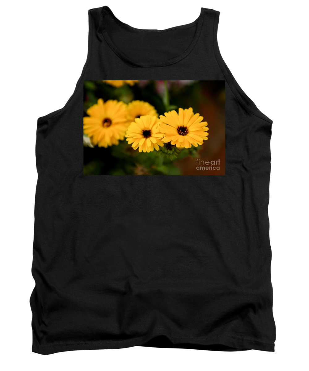 Flower Tank Top featuring the photograph Yellow Chain by Syed Aqueel