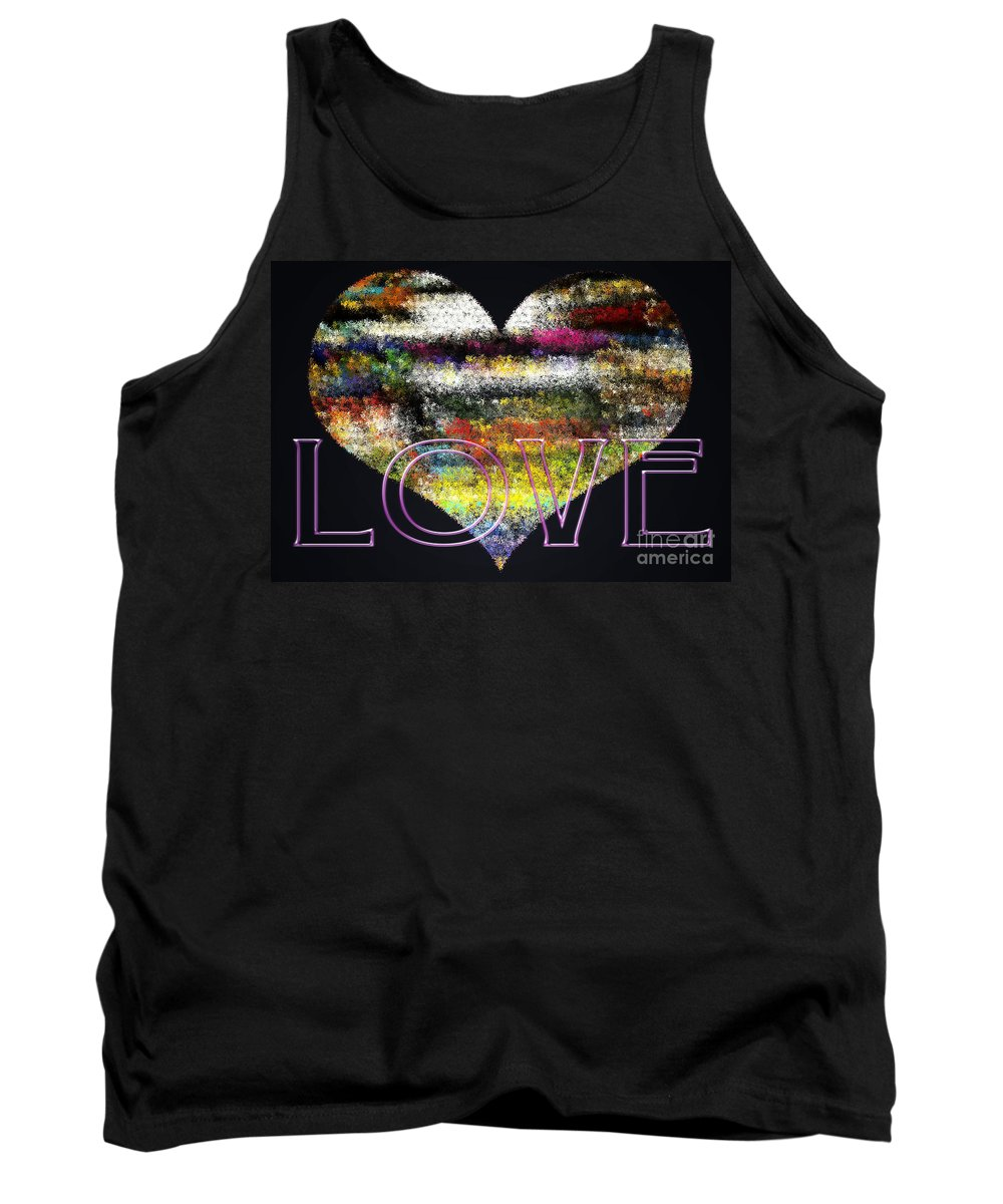 Love Tank Top featuring the digital art Your Heart Is My Pinata by Gwyn Newcombe