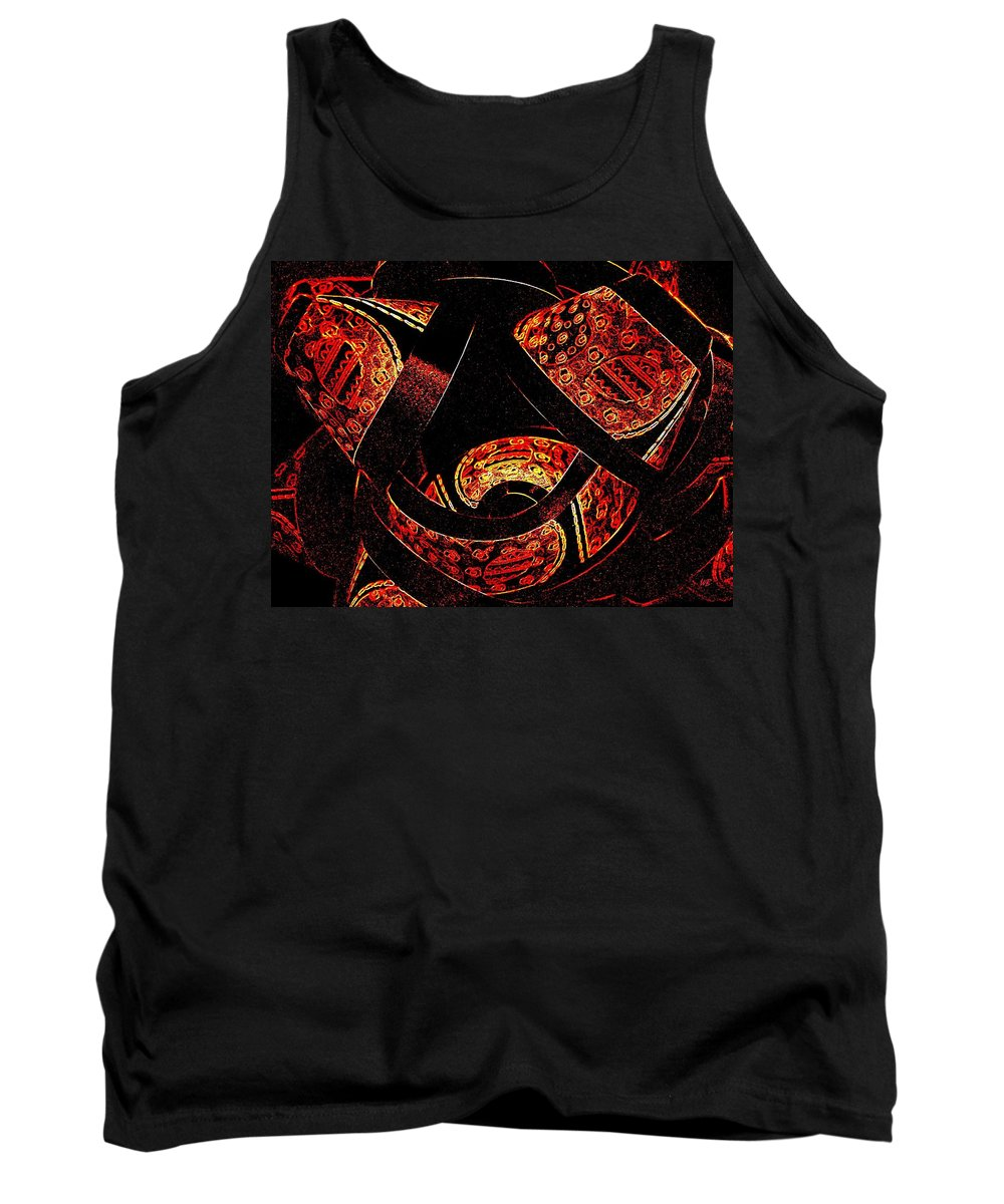 Abstract Tank Top featuring the digital art Galactic Flow by Will Borden