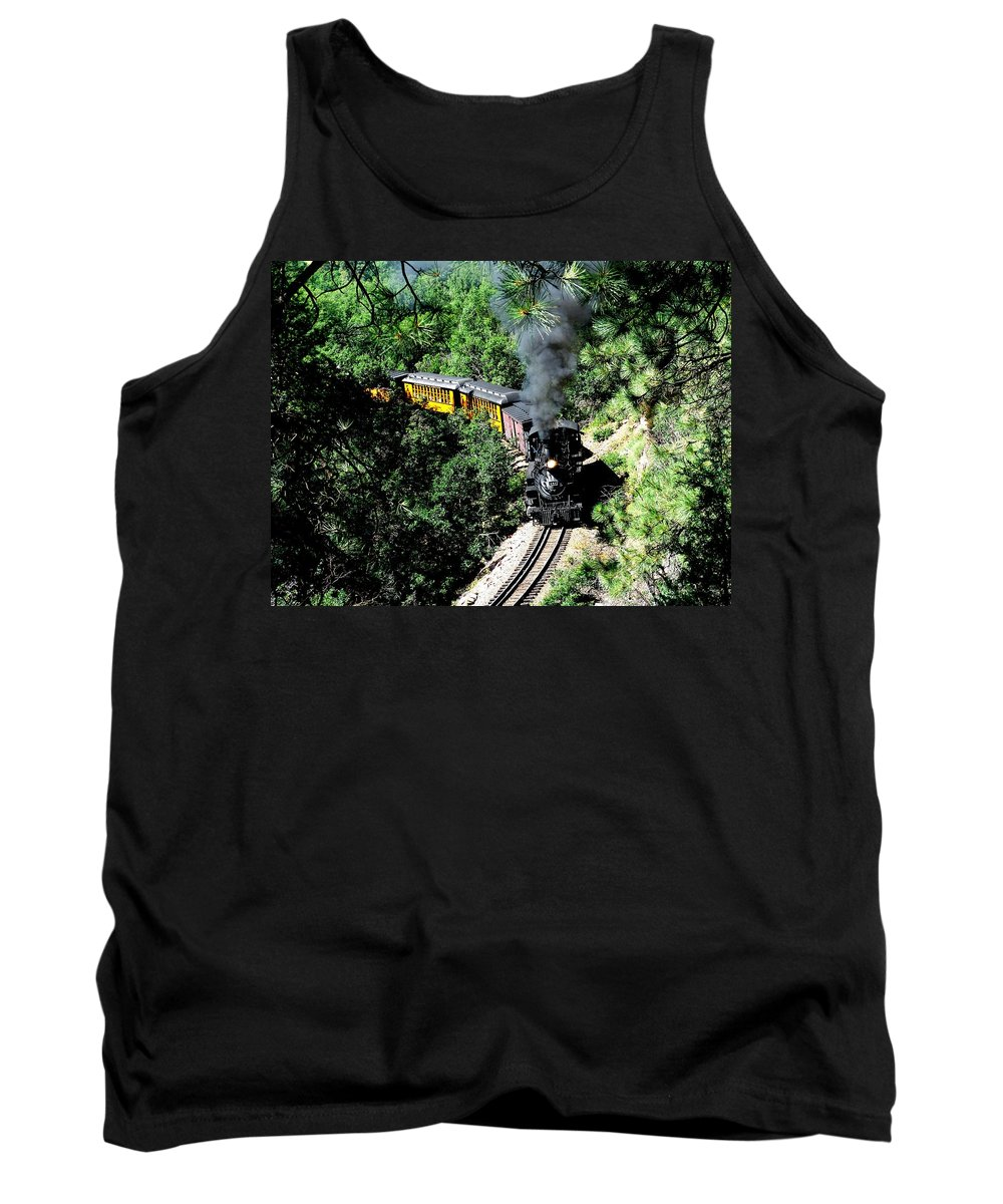 Train Tank Top featuring the photograph Nostalgic Moments by Carol Milisen