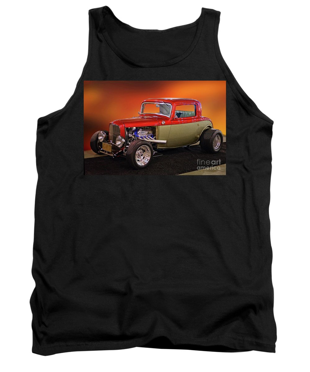 Hot Rod Key Words Tank Top featuring the photograph 1932 Ford 'three Window' Coupe by Dave Koontz