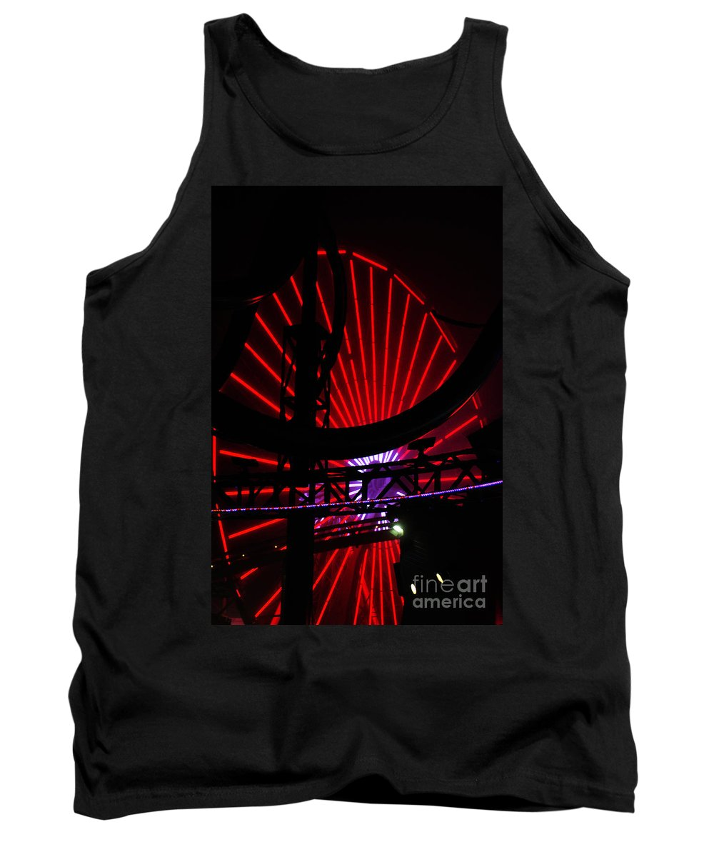 Clay Tank Top featuring the photograph A Night At Santa Monica Pier by Clayton Bruster