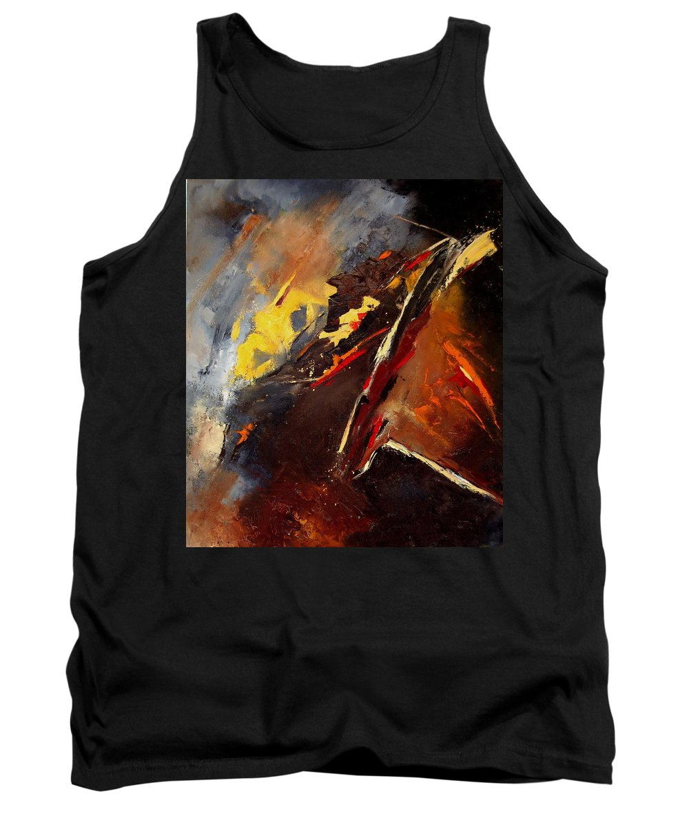 Abstract Tank Top featuring the painting Abstract 12 by Pol Ledent
