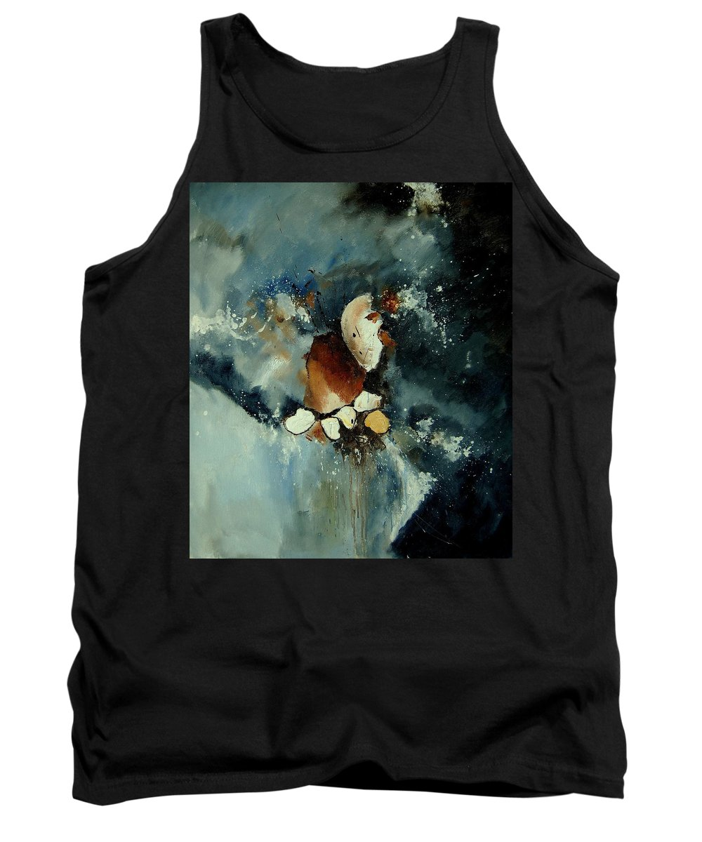 Abstract Tank Top featuring the painting Abstract 780707 by Pol Ledent