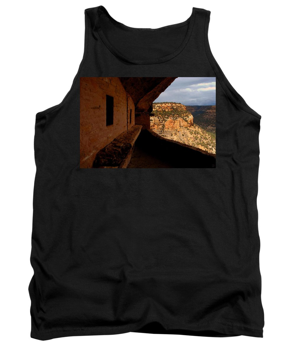 Art Tank Top featuring the painting Balcony House by David Lee Thompson