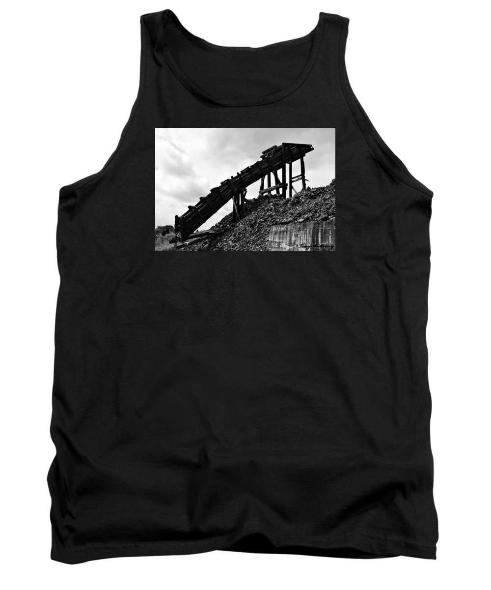 Black And White Tank Top featuring the photograph Blood, Sweat, And Tears by TroyAnthony Schermer