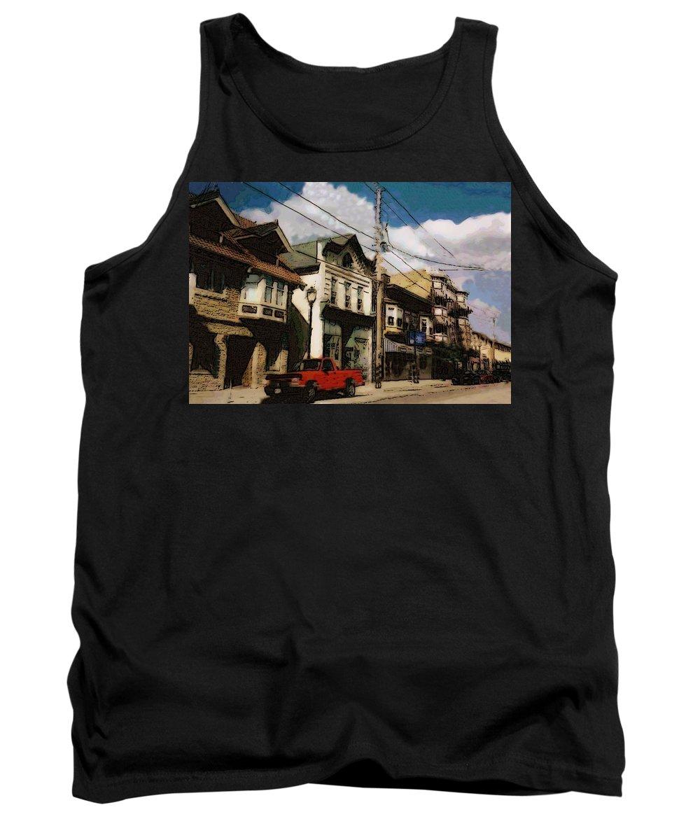 Brady Street Tank Top featuring the photograph Brady Street Scene by Anita Burgermeister