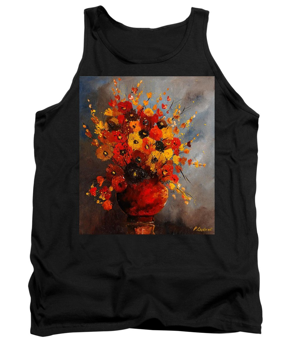 Flowers Tank Top featuring the painting Bunch 0708 by Pol Ledent