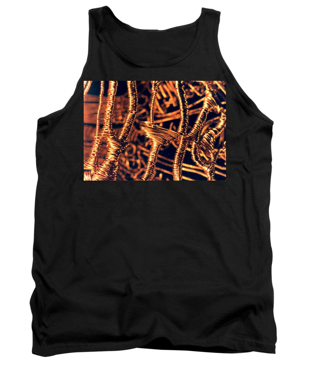 Copper Wirework Tank Top featuring the photograph Copper Wirework by Catt Kyriacou
