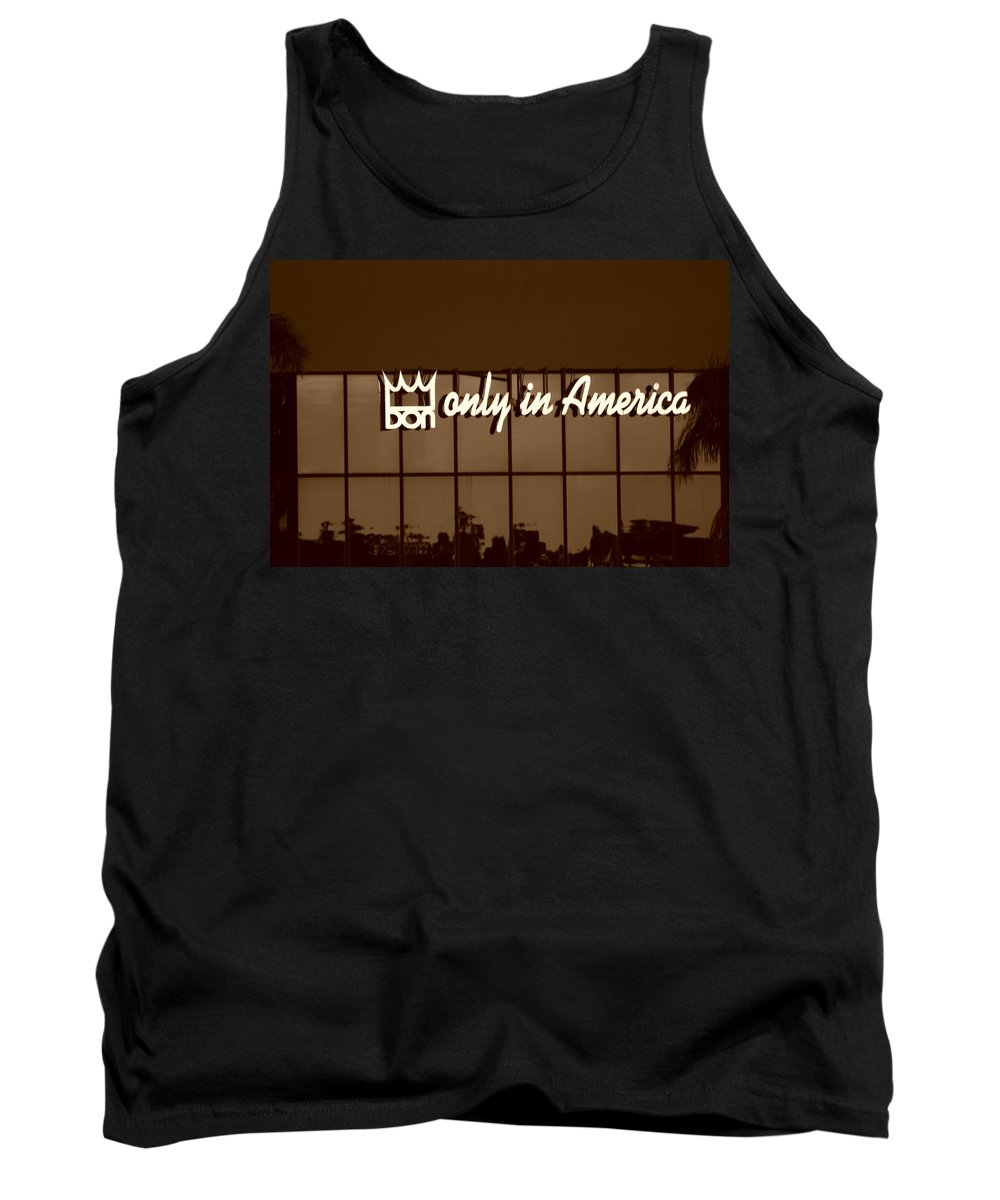 Sepia Tank Top featuring the photograph Don King Only In America by Rob Hans