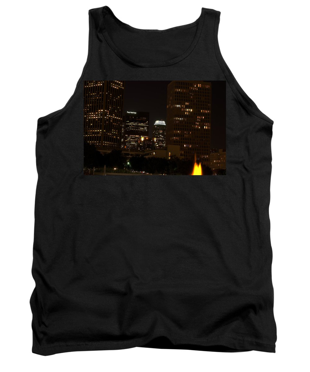 Clay Tank Top featuring the photograph Downtown L.a. In Hdr by Clayton Bruster