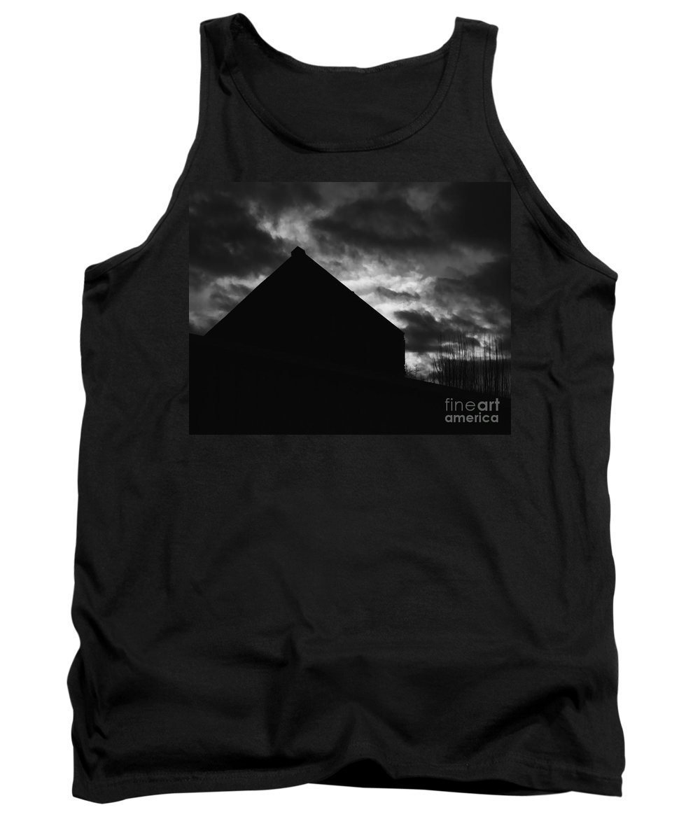 Black And White Tank Top featuring the photograph Early Morning by Peter Piatt