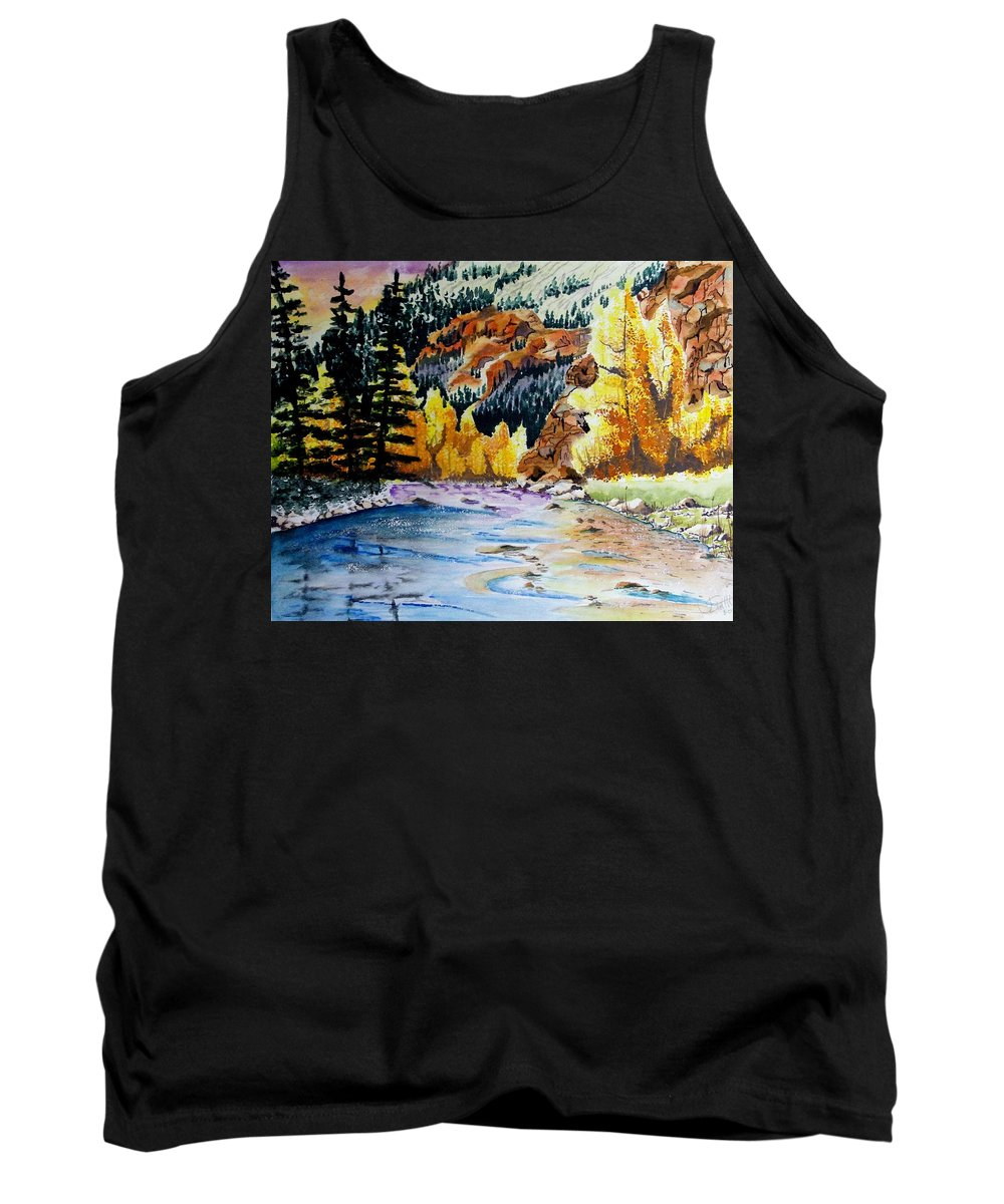 Creek Tank Top featuring the painting East Clear Creek by Jimmy Smith