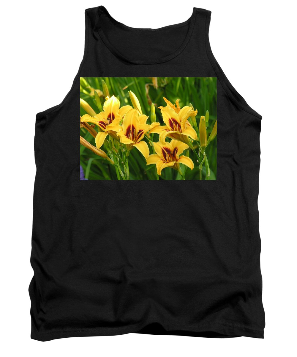 Yello Tank Top featuring the photograph Flowers by Diane Greco-Lesser