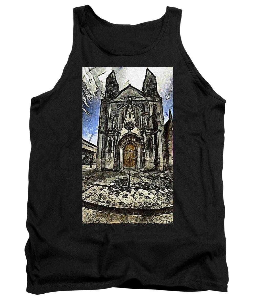 Gotic Tank Top featuring the photograph Gotic Church by Galeria Trompiz