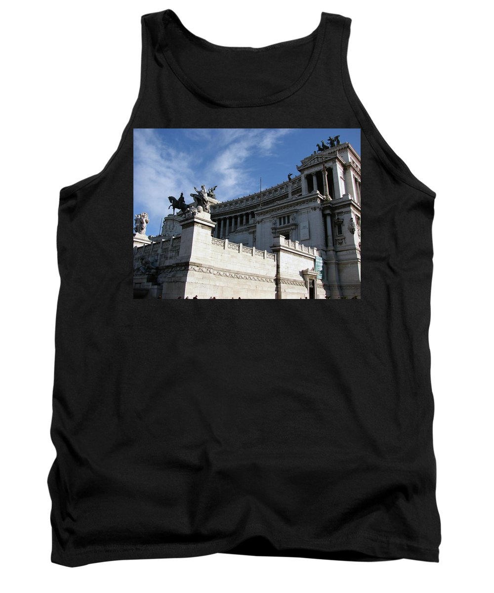 Government Tank Top featuring the photograph Government Building Rome by Brett Winn