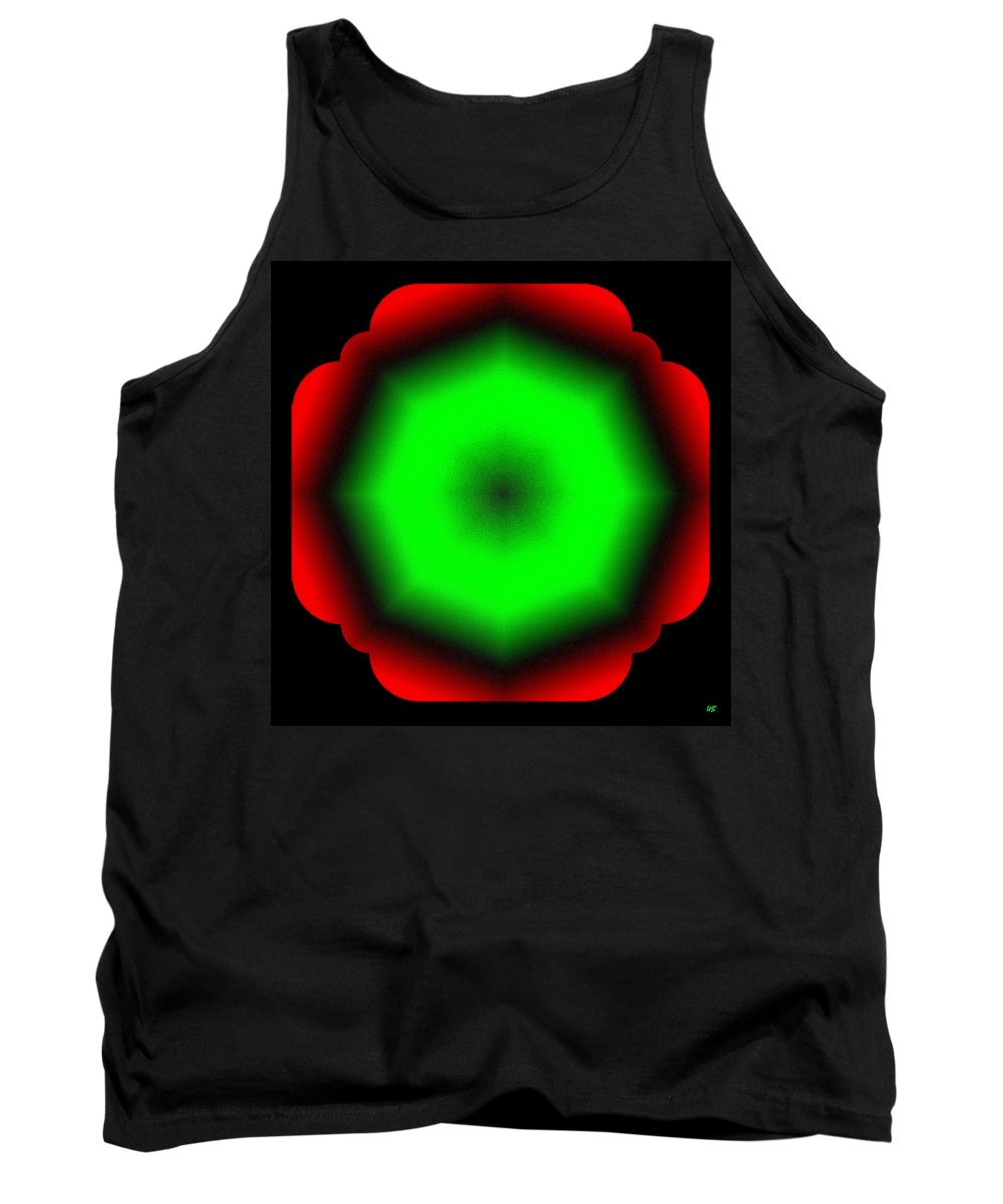 Abstract Tank Top featuring the digital art Harmony 26 by Will Borden