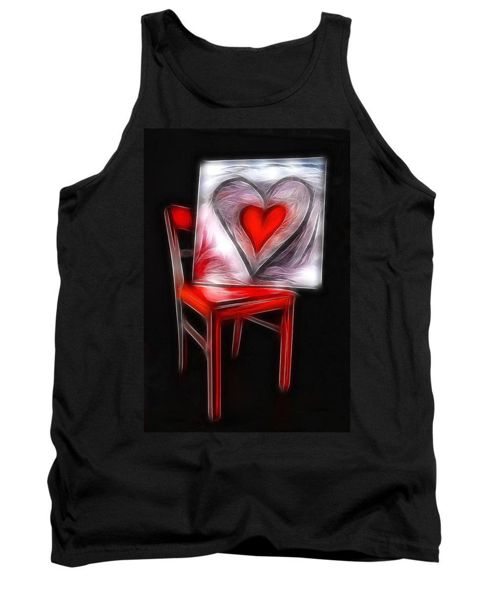 Heart Tank Top featuring the photograph Heart Int Heart by Manfred Lutzius