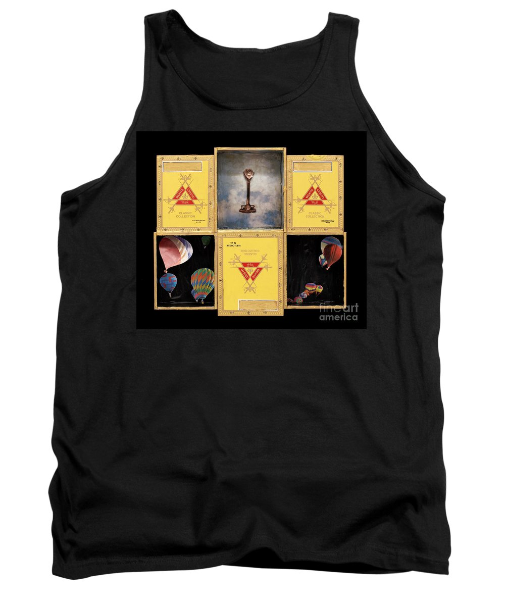 Cigar Boxes Tank Top featuring the mixed media High by Jaime Becker