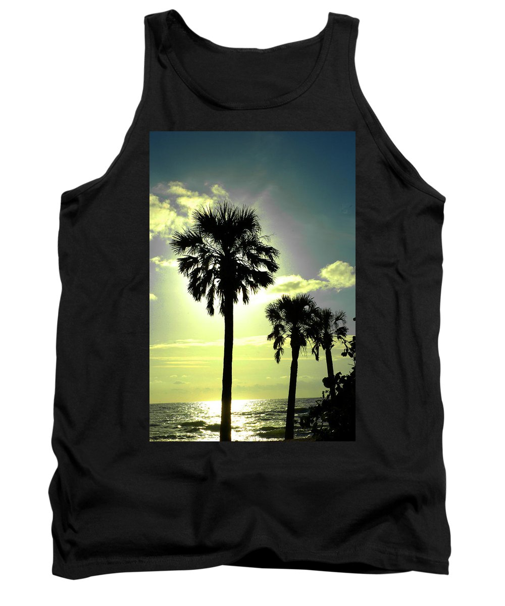 Photography Tank Top featuring the photograph Honeymoon Island Sunset by Susanne Van Hulst