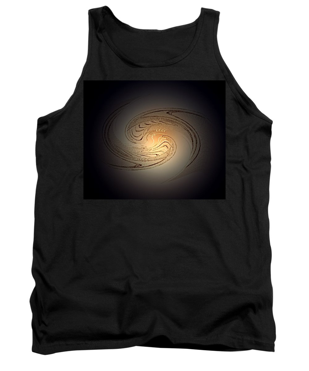 Swirl Tank Top featuring the digital art In The Beginning by Don Quackenbush