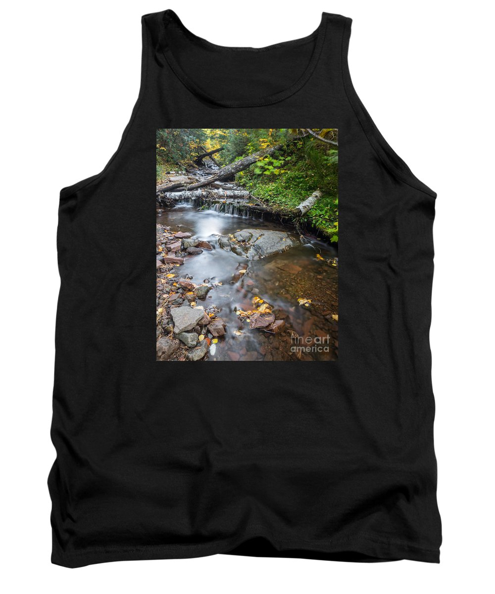 Eagle Tank Top featuring the photograph Jacob's Creek Rapids by Russell Johnson