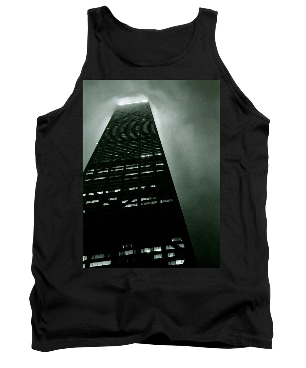 Geometric Tank Top featuring the photograph John Hancock Building - Chicago Illinois by Michelle Calkins