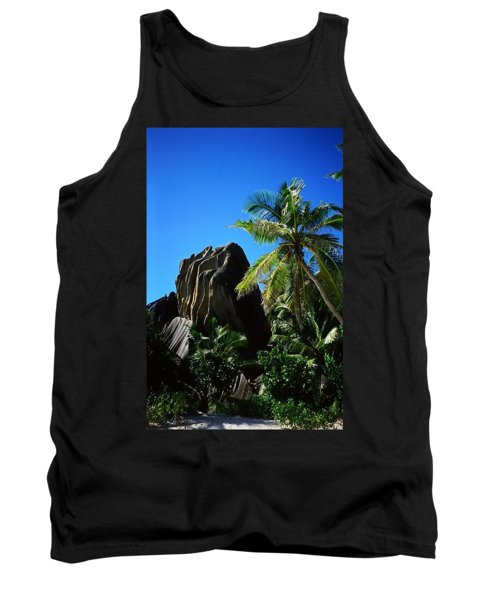 Indian Tank Top featuring the photograph La Digue Island - Seychelles by Juergen Weiss