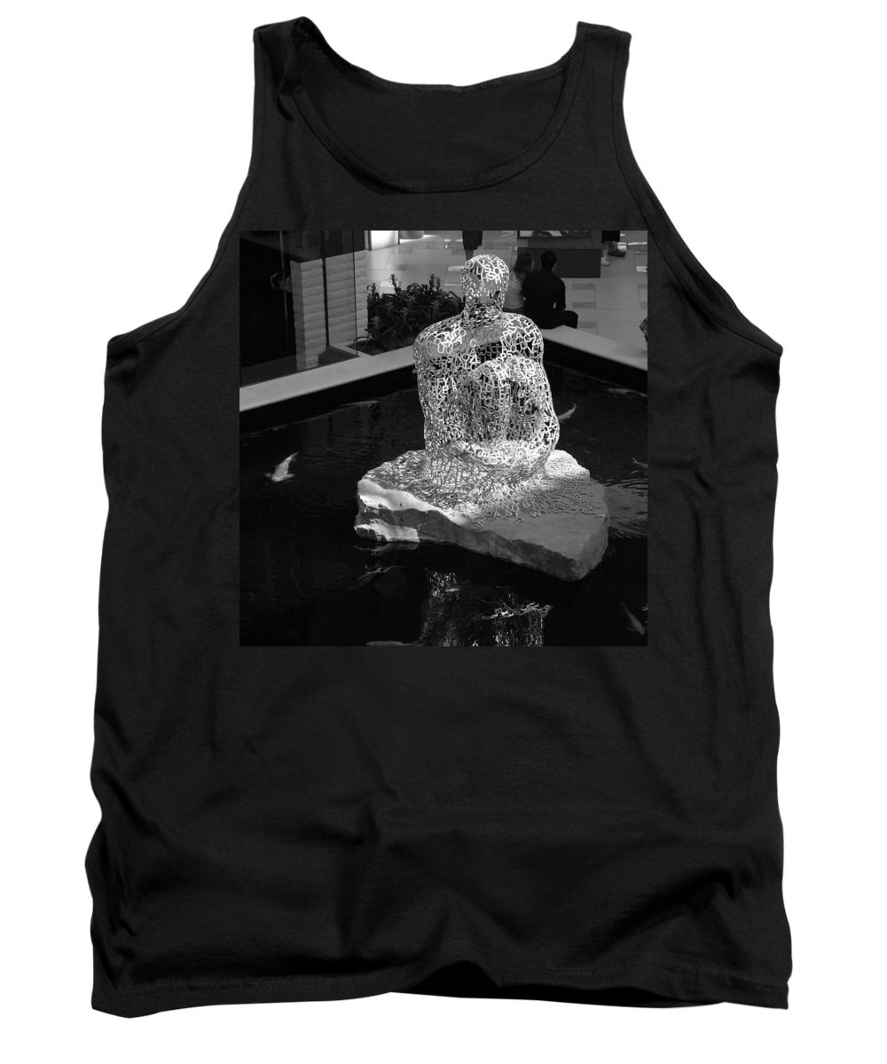 Black And White Tank Top featuring the photograph Letterman By Coy by Rob Hans