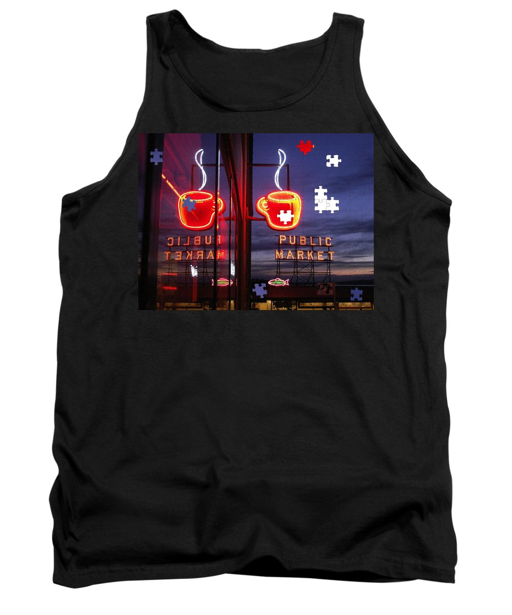 Seattle Tank Top featuring the photograph Market Cup by Tim Allen