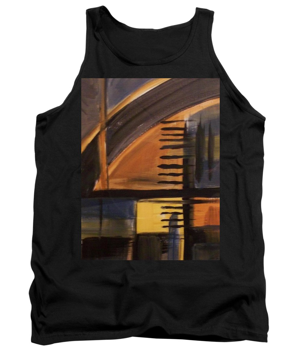 Abstract Tank Top featuring the painting Modern Architecture 1 by Anita Burgermeister