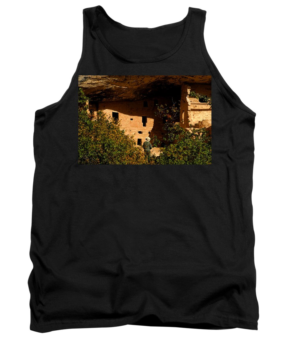 Mesa Verde National Park Colorado Tank Top featuring the painting Park Ranger by David Lee Thompson