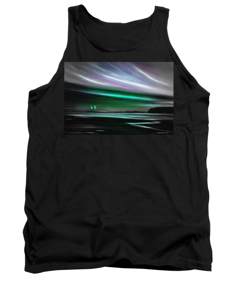 Sunset Tank Top featuring the painting Peace Is Colorful by Gina De Gorna