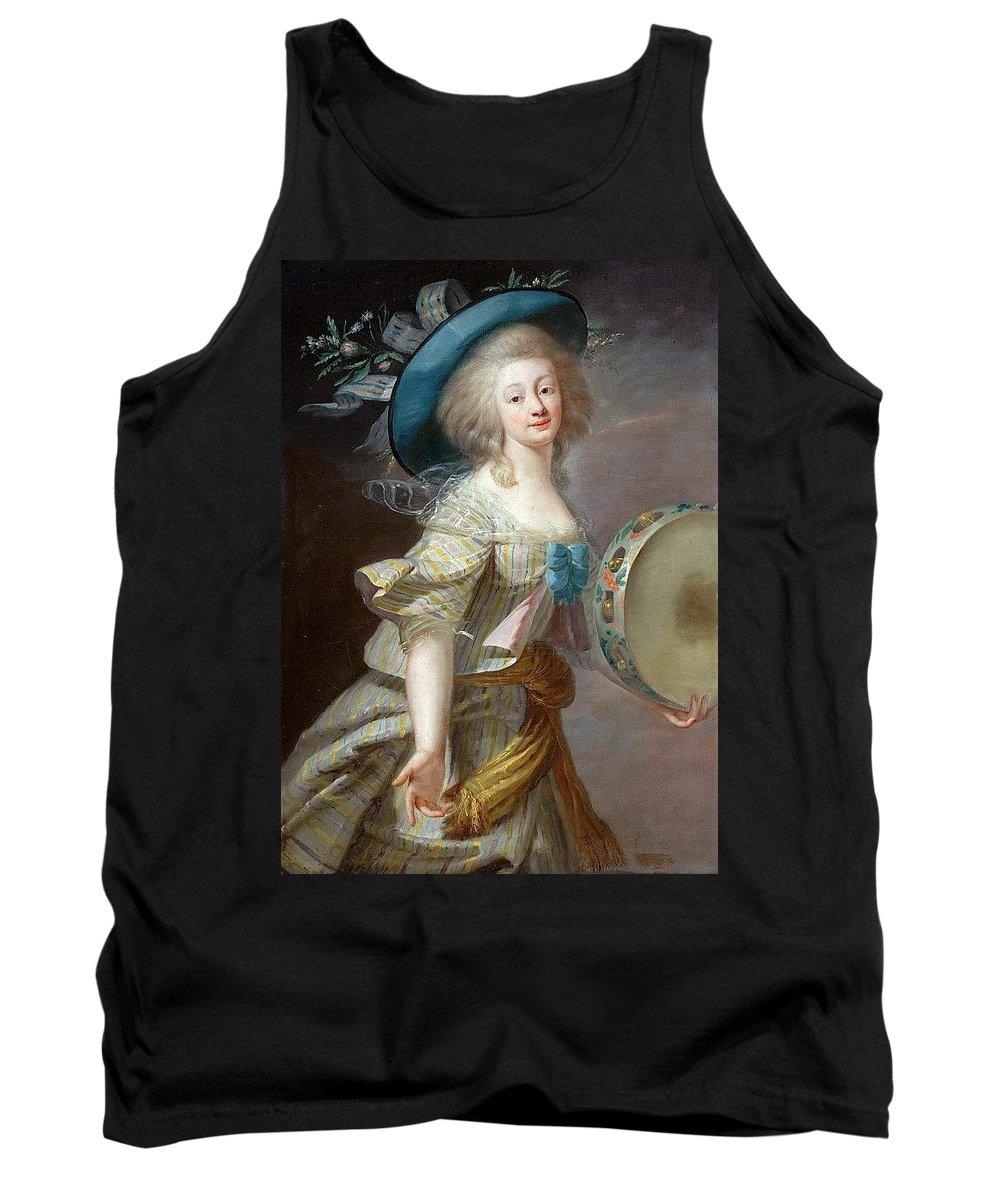 Costume Tank Top featuring the digital art Portrait Une Danseuse Au Tambourin Lisabeth Louise Vige Le Brun by Eloisa Mannion