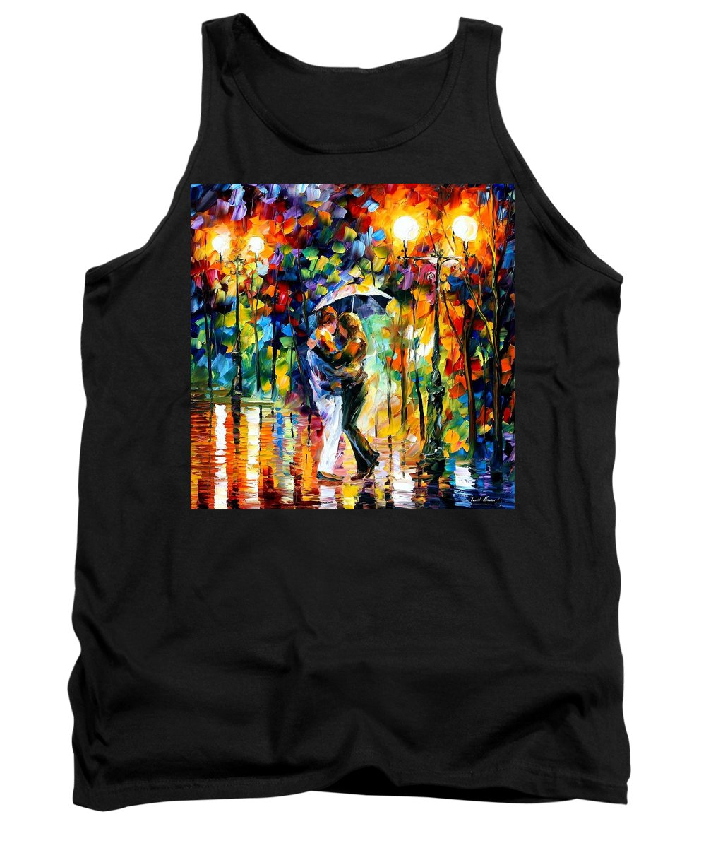 Afremov Tank Top featuring the painting Rainy Dance by Leonid Afremov