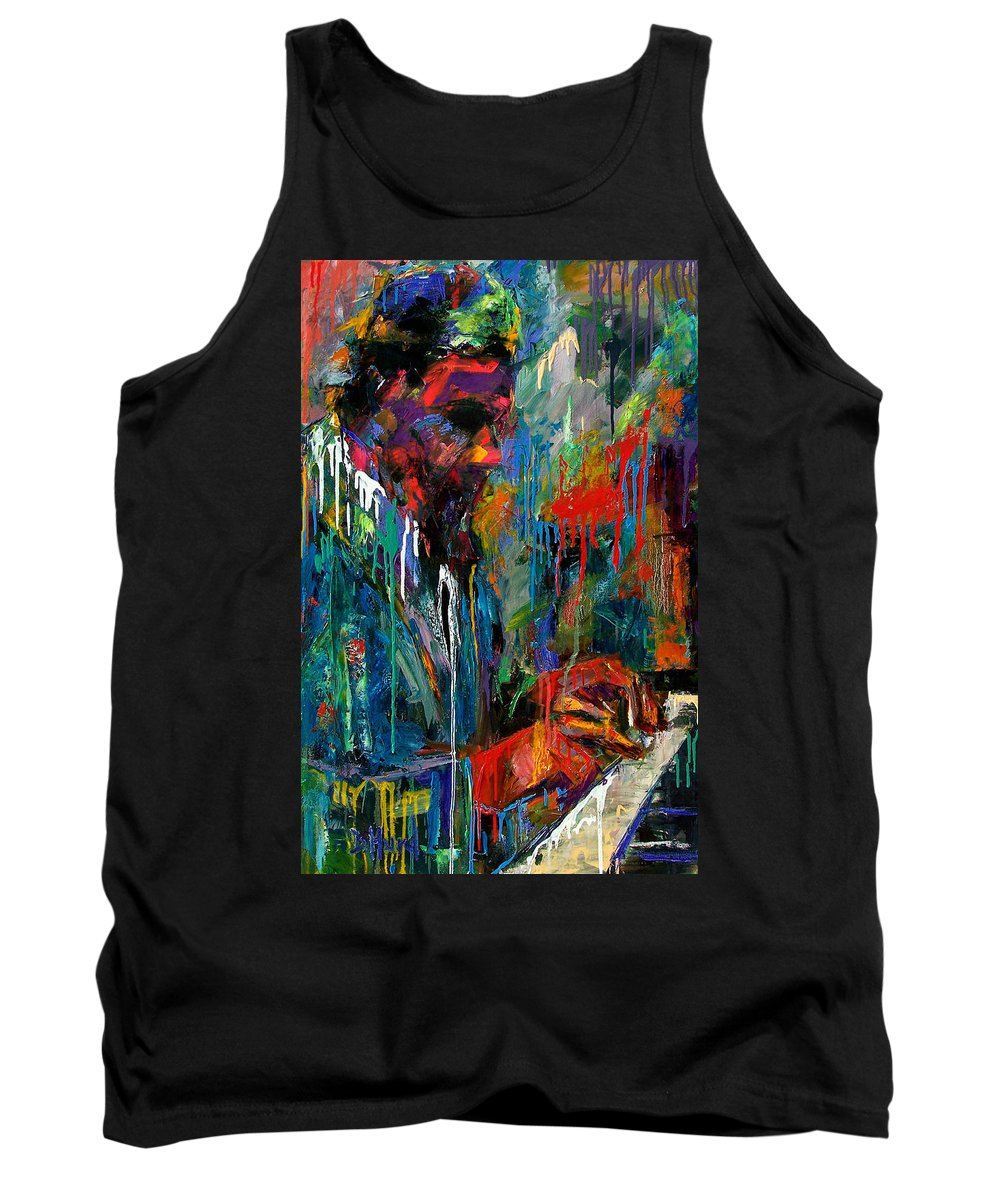 Painting Tank Top featuring the painting Round Midnight by Debra Hurd