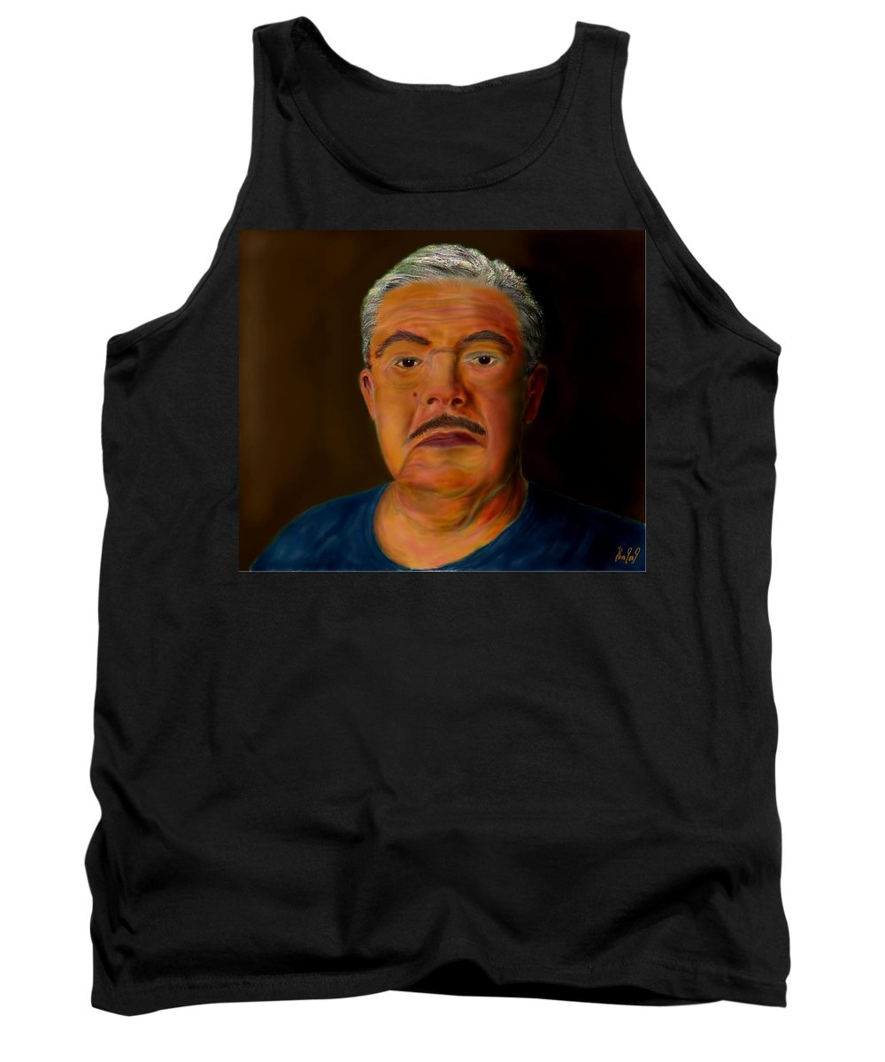 Selfportrait Tank Top featuring the painting Selfportrait by Helmut Rottler