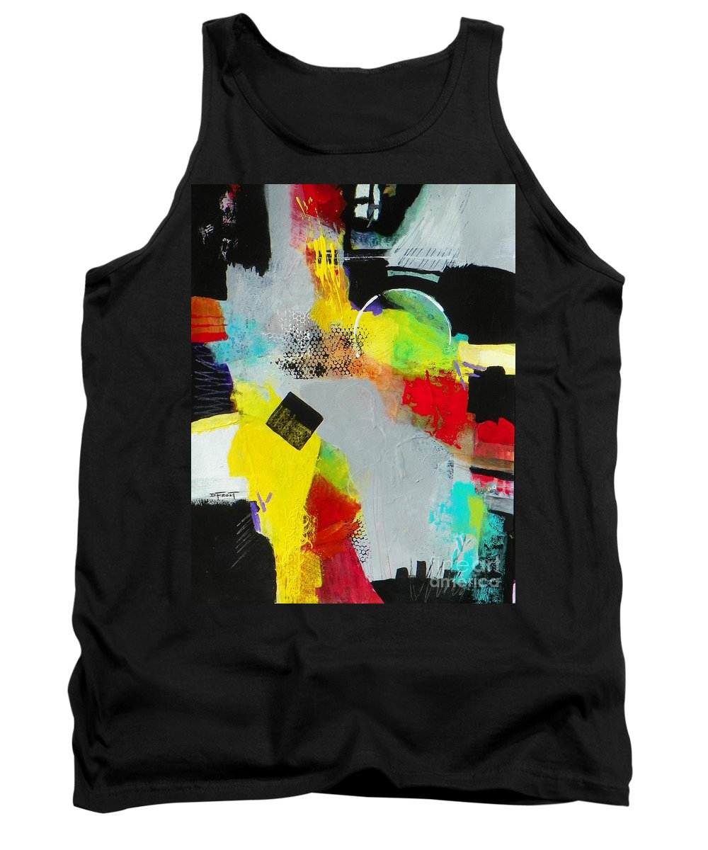 Abstract Expressionism Tank Top featuring the painting Serenity In Chaos by Donna Frost