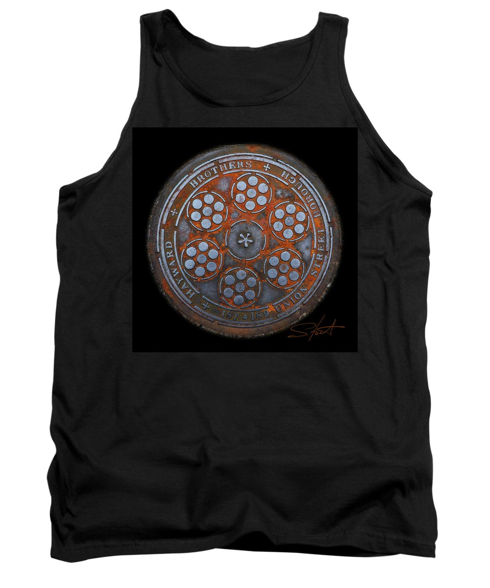 Manhole Tank Top featuring the photograph Shield by Charles Stuart