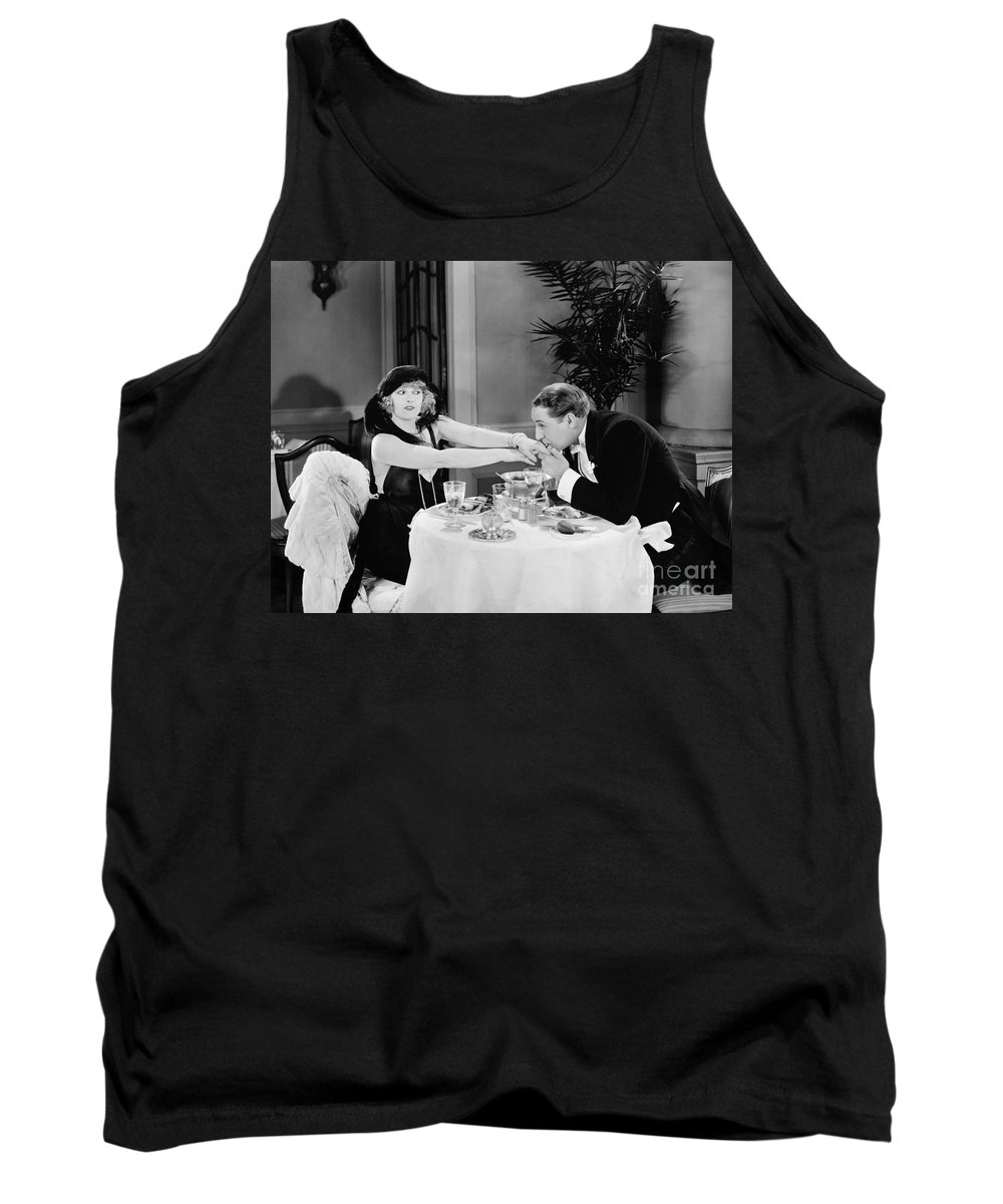 -kissing Hand- Tank Top featuring the photograph Silent Still: Hand Kissing by Granger