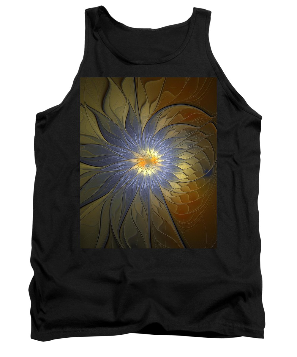 Digital Art Tank Top featuring the digital art Something Blue by Amanda Moore