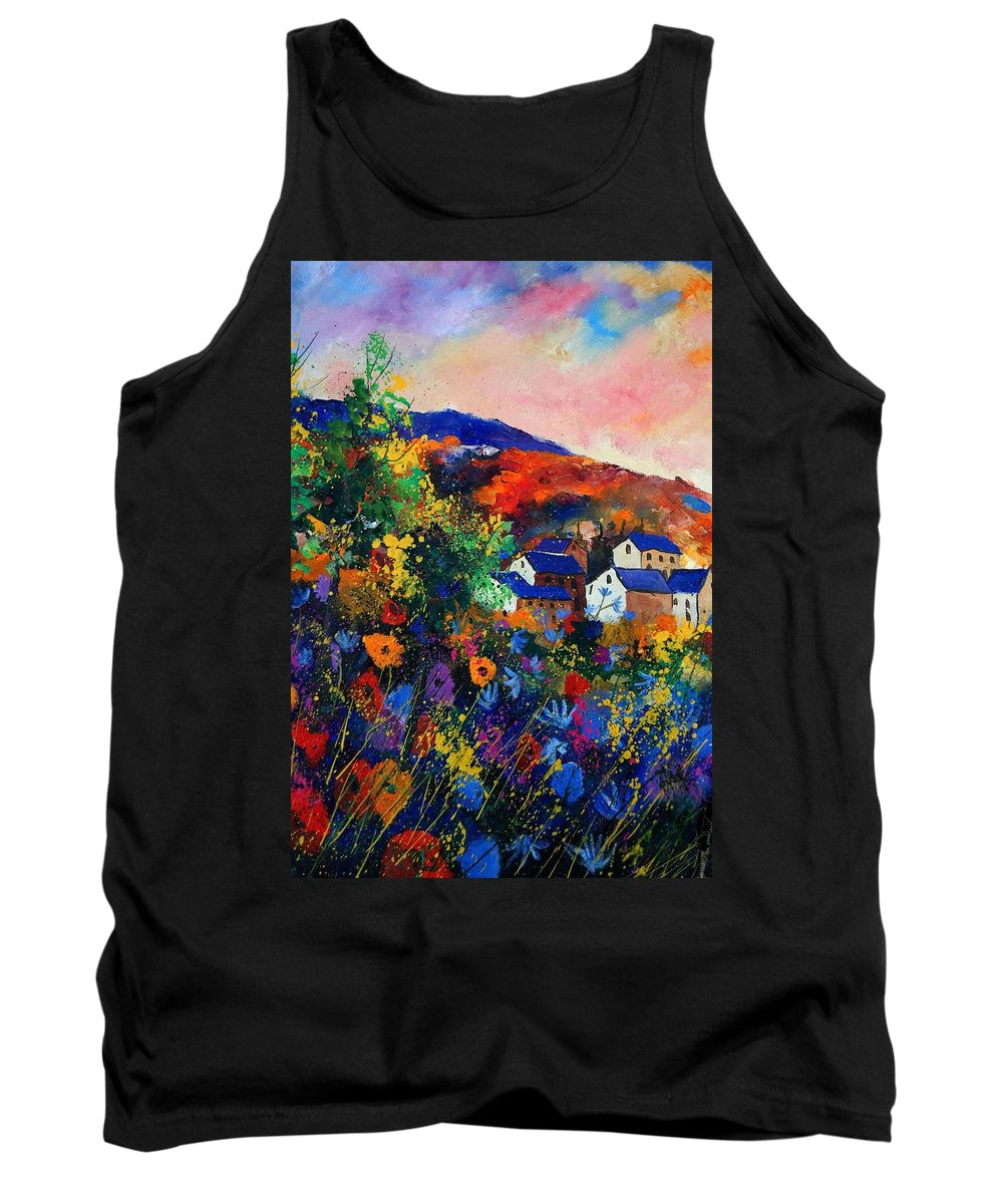 Landscape Tank Top featuring the painting Summer by Pol Ledent