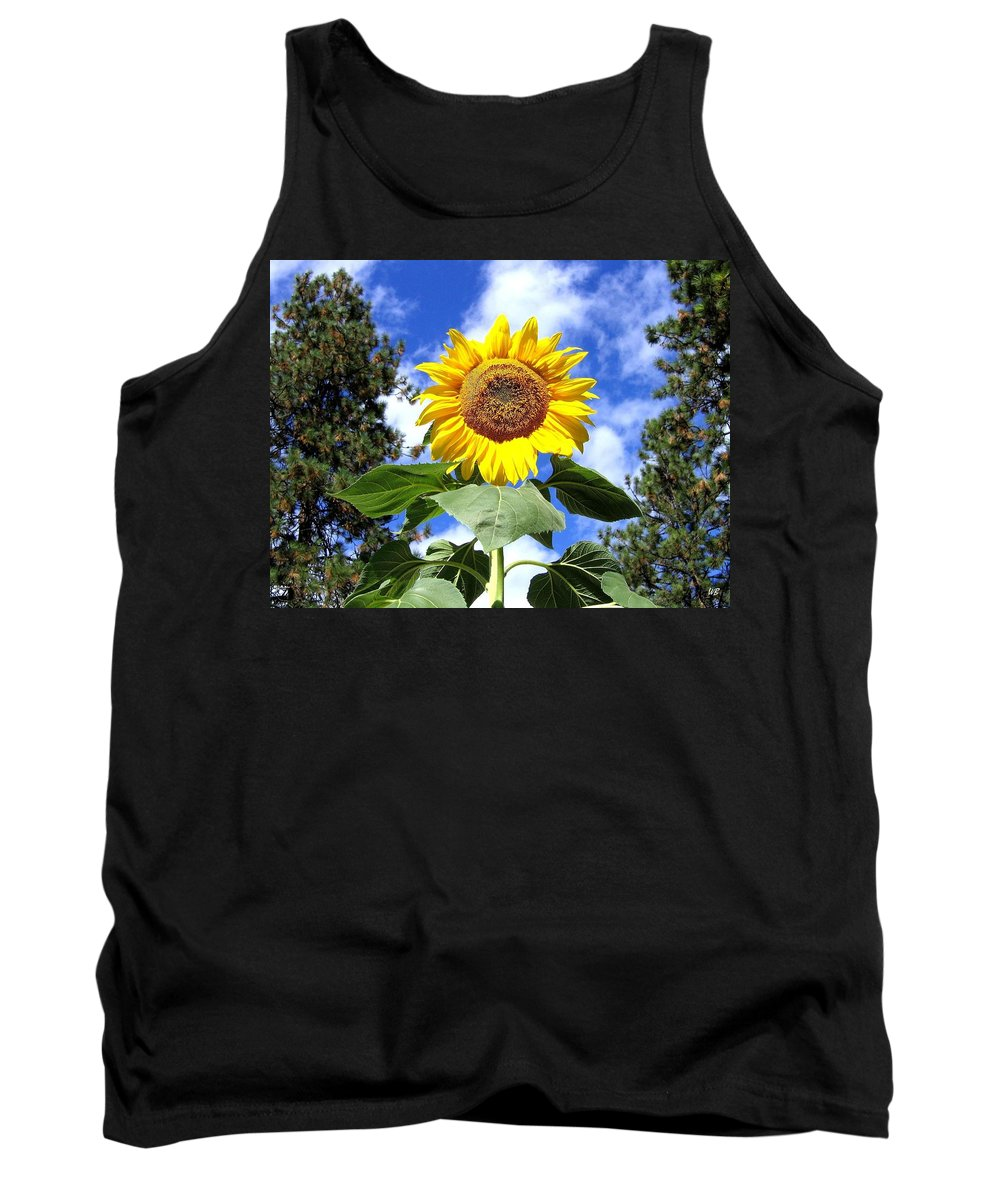 Sunflower Tank Top featuring the photograph Tall And Sunny by Will Borden