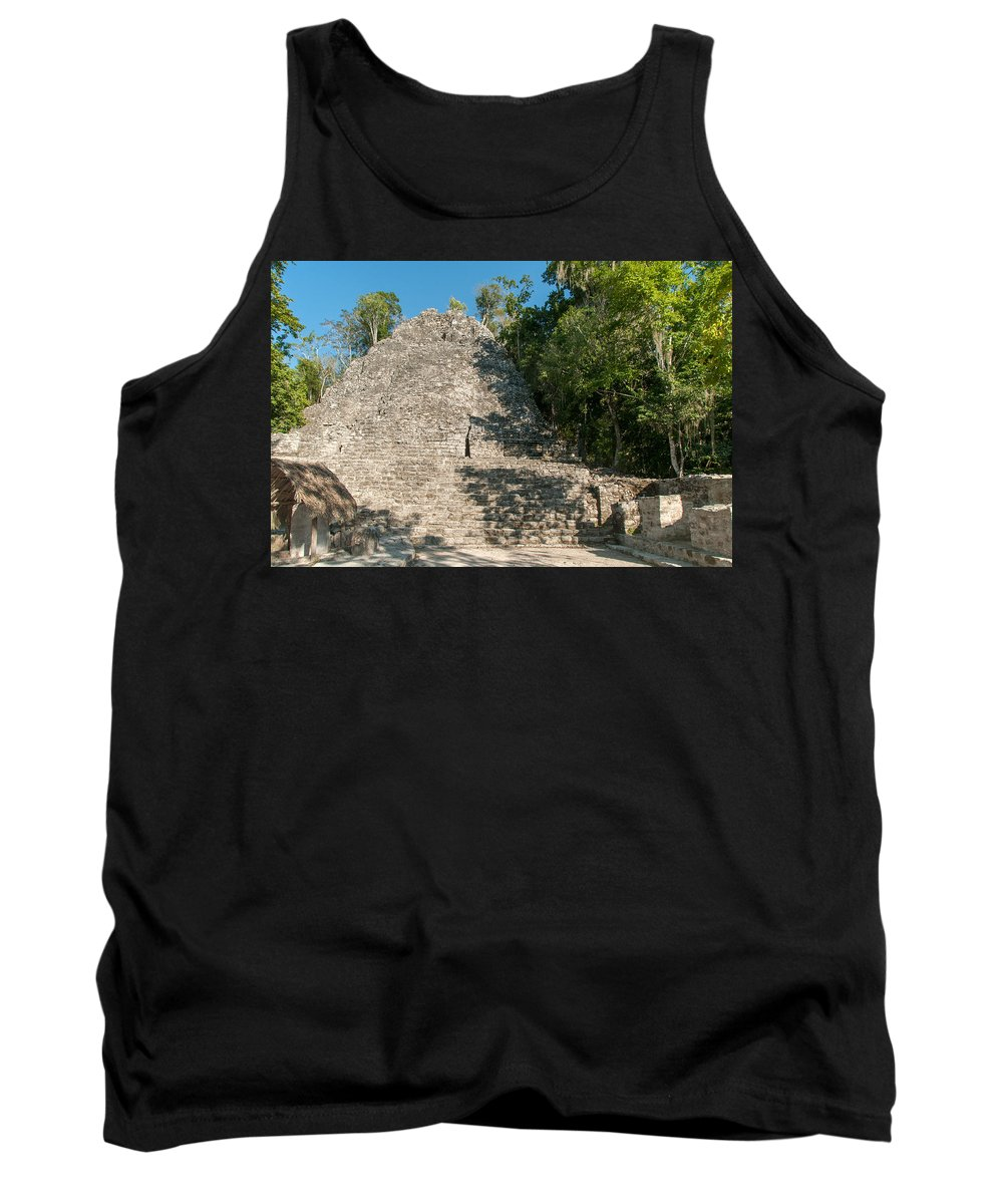 Mexico Quintana Roo Tank Top featuring the digital art The Church At Grupo Coba At The Coba Ruins by Carol Ailles