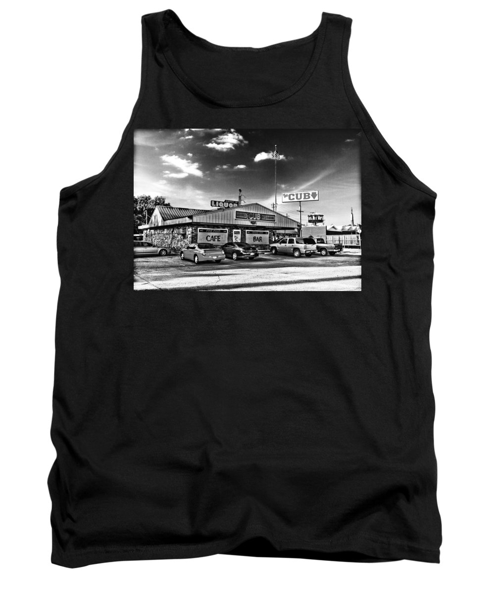 Black & White Tank Top featuring the photograph The Cub - Surreal Bw by Scott Pellegrin