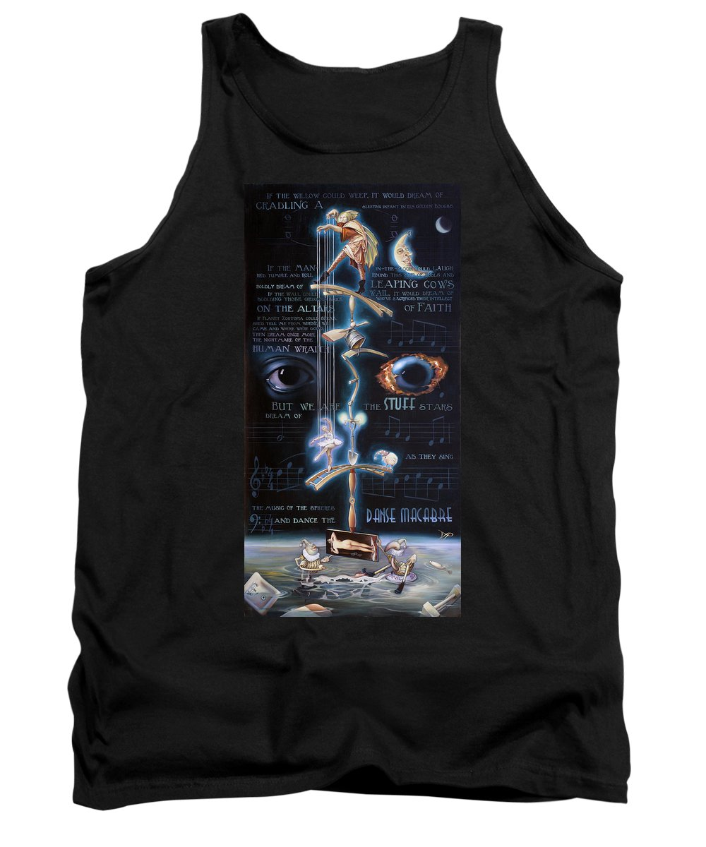 Chicken Tank Top featuring the painting The Danse Macabre by Patrick Anthony Pierson