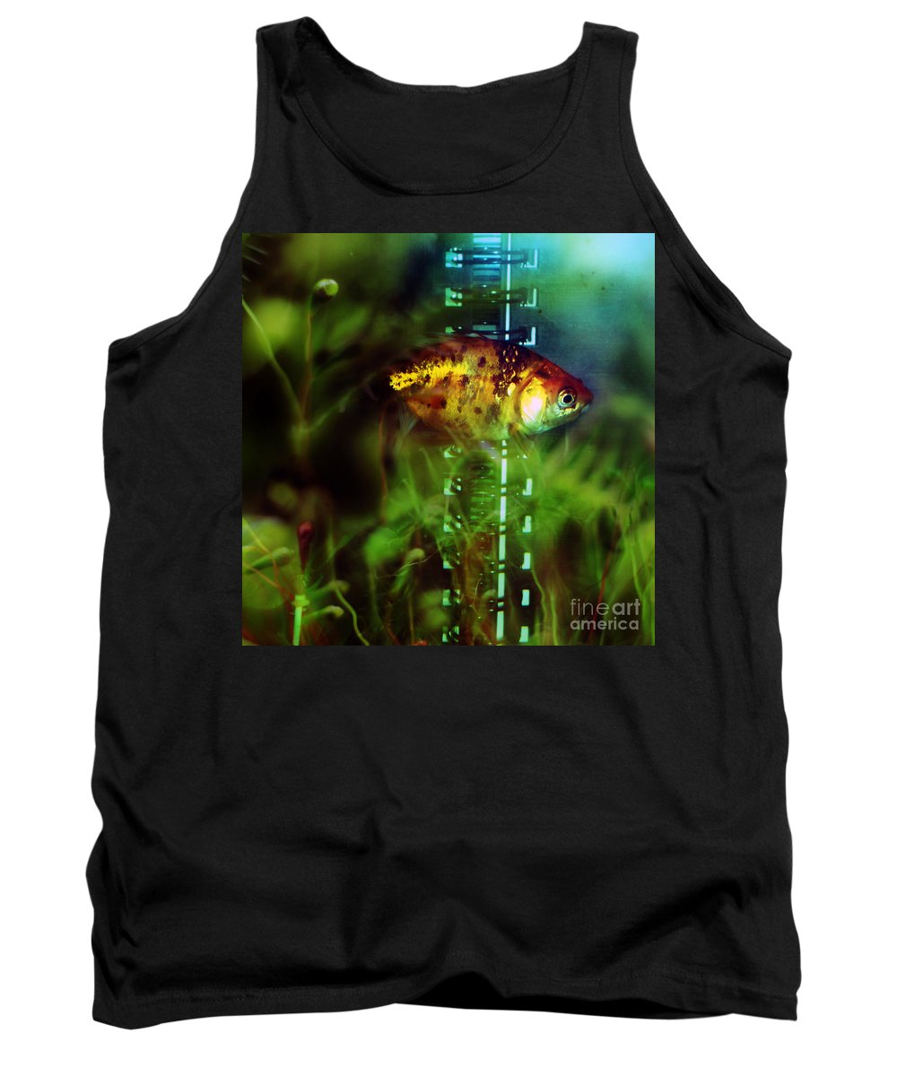 Fish Tank Top featuring the photograph The Goldfish by Angel Ciesniarska